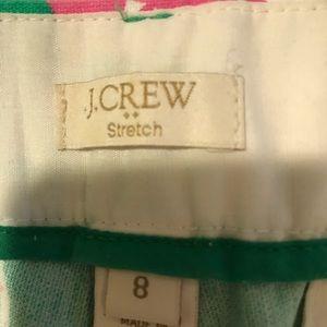 J. Crew Pants - J CREW Floral Ankle pants size 8